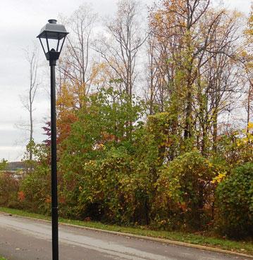 Установка уличных фонарей москва